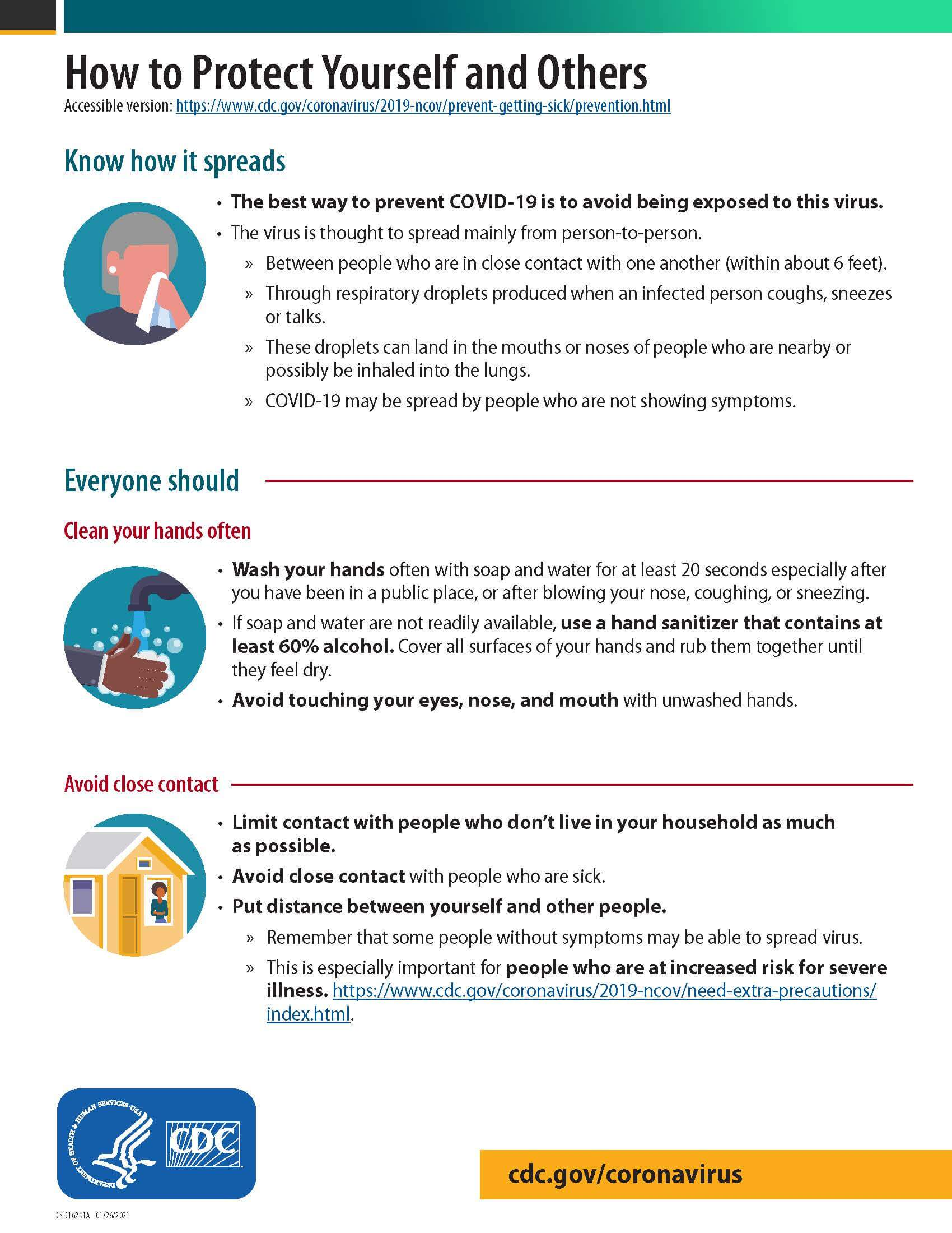 How to Protect Yourself and Others from covid page1